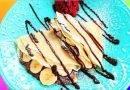 طريقة سهلة لتحضير كريب محشو بالشوكولاته والموز